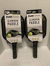 Set of 2 * Franklin Viper Aluminum Pickleball Paddles Ball * Padded Handles