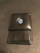 "Women'S Purse Lladro Society black leather keyring coin 4"" original bag members"