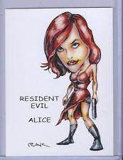 ALICE RESIDENT EVIL ** TRADING CARD ART SIGNED by RAK ** NEAR MINT SEE MY STORE