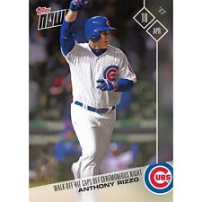 2017 TOPPS NOW #33 ANTHONY RIZZO WALK-OFF HIT TO CAP OFF WS CEREMONY NIGHT