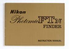 Nikon Photomic FTN Finder Instruction Manual (69.11.AO) Original