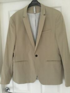Zara Men Suit Jacket Cream Size EUR 56
