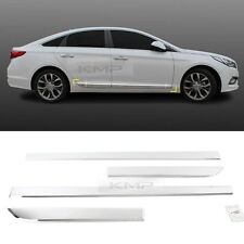 Chrome Side Skirt Accent Door Garnish Moldings For HYUNDAI 2015-2018 LF Sonata
