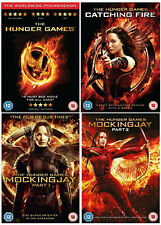 THE HUNGER GAMES QUADROLOGY 1-4 DVD CATCHING FIRE MOCKINGJAY PART 1 2 New Uk R2