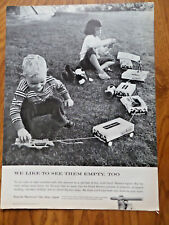 1958 Dutch Masters Cigar Ad Youngsters Empty Boxes Toys