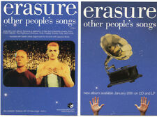 Erasure Other People's Songs 2003 U.S. promo hype Card • Andy Bell Vince Clarke
