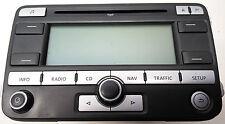 1K0035191D Original VW Touran PASSAT GOLF CD Radio NAVI Blaupunkt MP3 No Code