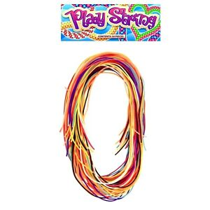 Coloured Scoubidou Strings Scubidu Scooby Knit Craft Weave Scoobie 40 Pack 80cm