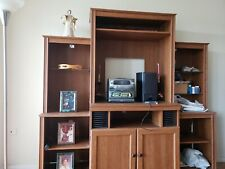Large Entertainment  center holds large TV and stereo