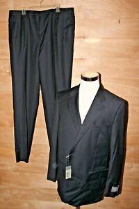 Daniel Cremieux Signature Black Stripe Suit Piana Super 160's 46R 4 W NWT $1495