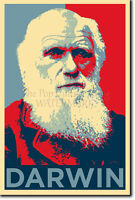 CHARLES DARWIN POSTER - Unique Photo Art Print Gift