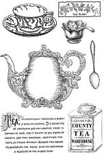 Unmounted rubber stamps Tea - REDUCED
