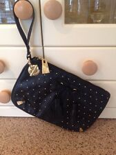 GREAT MISHCA BARTON BLACK STUDDED WRISTLET BAG BARELY USED GREAT CONDITION