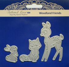 Tattered Lace Dies WOODLAND FRIENDS Deer Fox Rabbit Metal Cutting Dies - TLD0400