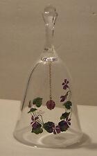 Avon Glass Crystal Bells - Month Birthstone And Flower - Nib