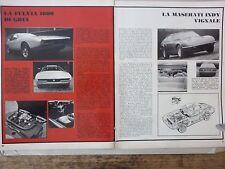 *ARTICOLO CARROZZIERI A GINEVRA BERTONE - LANCIA FULVIA  GHIA - VIGNALE -- 1969