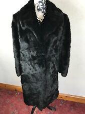 "Beautiful Black Mink Fur Coat - women's medium men's small 42"" chest."