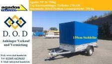 Pkw Anhänger 750kg 0,75t 2,7 x 1,3m mit Hochplane Planenanhänger Kastenanhänger