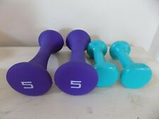 2 Sets of 2 lbs & 5 lbs Pound Neoprene Dumbbells 4 Hand Weights Total