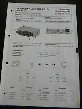 ORIGINALI service manual Autoradio Blaupunkt Norimberga Norimberga FR