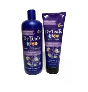 Dr Teals Kids 3-1 (Bubble Bath, Body Wash & shampoo)20Fl Oz.(Sleep Lotion)8 Oz