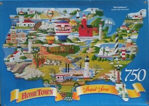 """HOMETOWN SHAPED SERIES """"USA LIGHTHOUSES"""" 24X36 750 PIECES"""