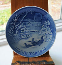 Bing And Grondahl 1970 Christmas Pheasants In The Snow Plate