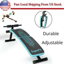 Sit Up Utility Bench Incline Decline Exercise Strength Training Adjustable Blue