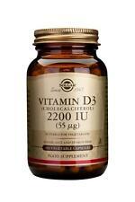 Solgar, Vitamin D3 2200 IU Vegetable Capsule, 100