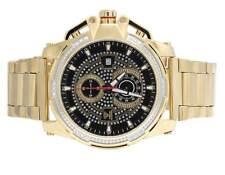 Mens Aqua Master 50MM Stainless Steel Black Dial Diamond Watch W#352 0.20 Ct