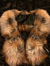 Luxury Real Fox Fur ( Saga ) stole,wrap,scarf, Boa size L, new with tags