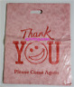 "98 X PLASTIC ""THANK YOU"" CARRY SHOPPING BAGS DYE CUT HANDLE SIZE LARGE & MIDIUM"