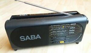 radio saba rx125 radiokoffer tragbar 4 Band AC/DC top