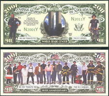 10th Anniversary of 9-11 Heroes Collectible Dollar Bill Fake Money Novelty Note