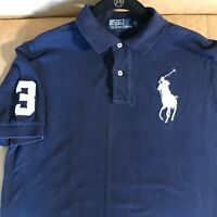 Polo Ralph Lauren Men's Shirt Blue Large Embroidered Pony Short Sleeve Top S