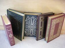 """Leather Gilt Silk Satin Collector Book """"Canterbury Tales"""" Chaucer HB Fine"""