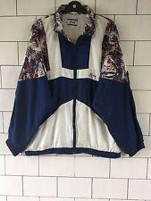 Unisexe Old School Vintage Rétro Années 80 Crazy gras shellsuit Windbreaker Jacket #58