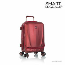 "Heys Vantage Luggage 30"" Hardcase Red Burgundy Spinner Suitcase"