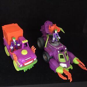 Imaginext DC Super Friends The Joker Vehicle Play Set Toy Bundle
