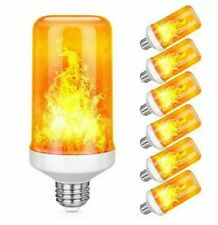 6 Pack LED Flame Effect Simulated Nature Fire Light Bulb  E26 for Hotel Bar Part