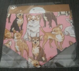 New Lux Stunning Small Cupcakes Fabric Dog Puppy Pink Bag Dogs