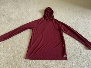 Reebok Play Dry Youth Boys Athletic Long Sleeve Shirt Red/Maroon XL 16  NICE!