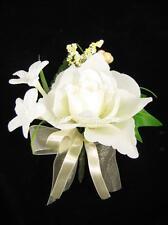 Boda Artificial Flores De Seda Crema Rosa Stephanotis Ivy Ojal Corsage