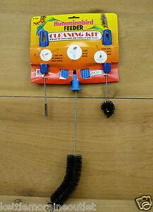 Brushtech Hummingbird Feeder Cleaning Kit 3 Brushes Clean Ports, Bottles, Bases
