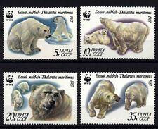9811 RUSSIA 1987 WWF Polar Bears MNH