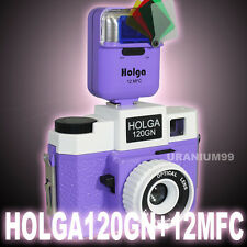 HOLGA 120GN 120 GN 12MFC Flash Medium Format Film Glass Lens Camera Purple White
