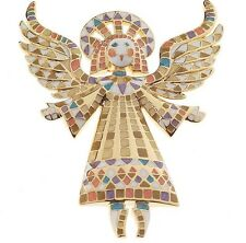 Bob Mackie Vintage Mosaic Guardian Angel Pin