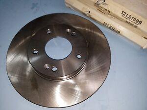 """Front Disc Brake Rotor Set - fits Hyundai Santa Fe 01.06 - 275mm - 10-3/4"""" Dia."""
