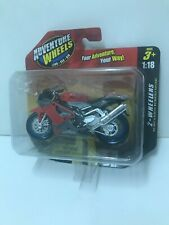 Maisto Adventure Wheels 2 Wheelers 1:18 Aprilla Red Motorcycle, 2011, SEALED