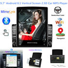 """9.7"""" Android 8.1 Vertical Screen 2.5D Car Stereo MP5 Player WIFI GPS USB 1+16GB"""